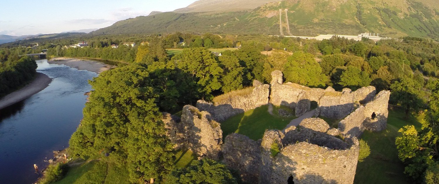 Old Inverlochy Castle is an ancient ruin by the shore of the River Lochy, Fort William