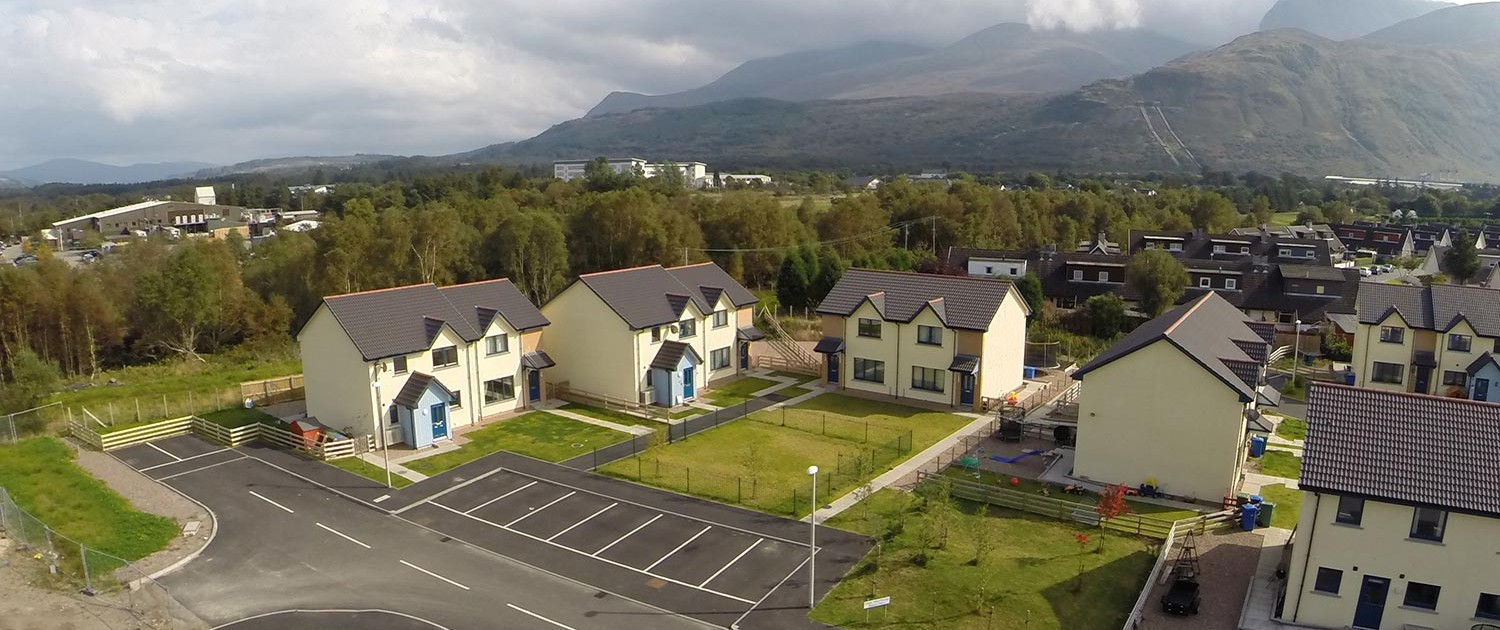 Aerial photo of new homes in Fort William. Copyright: Andrew McKenna 2016