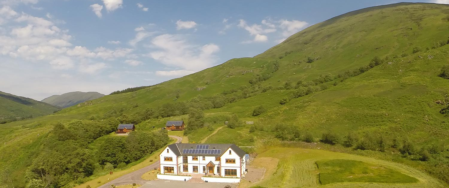 Inverskilavuilin estate photographed from the air. Copyright Andrew McKenna 2016