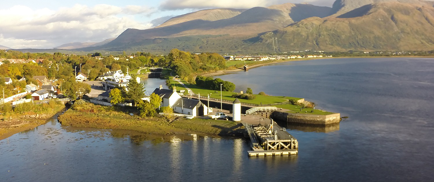 The entrance to the Caledonian Canal in Fort William: Copyright Andrew McKenna 2016